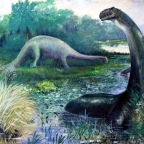The grass-eating, 200-foot-long brontosaur of the late Cretaceous, or common mistakes in paleofiction