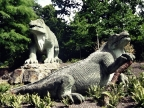 Who wrote the first dinosaur novel?